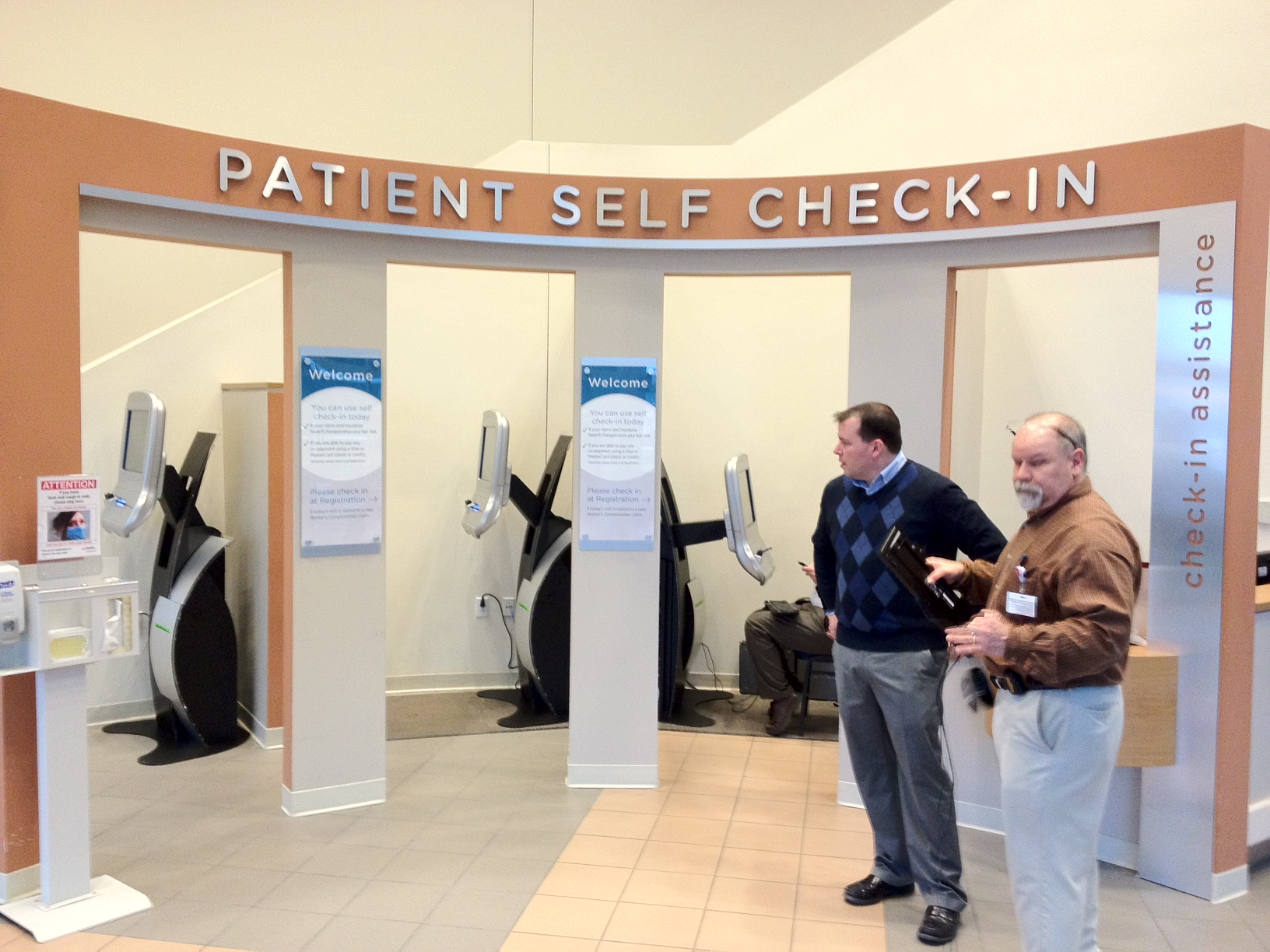 The latest patient check in kiosk deployment for Registrator health check